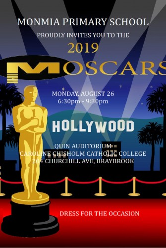 2019 – Monmia Primary School <br>MOSCARS <br>